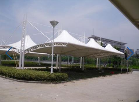 景区公园膜结构雨棚 雨棚